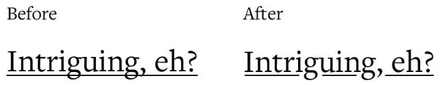 smart underline